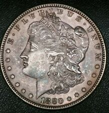1880 U.S. Morgan $1 Dollar Early Liberty 90% Silver Nice Brilliant Old Coin