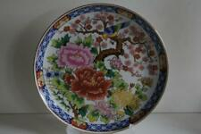 A LOVELY JAPANESE IMARI PLATE WITH HANDPAINTED BIRD AND FLOWERS 26CM.