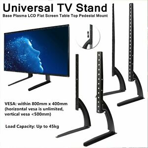 """Universal  Table-top TV Stand Base Mount for 27""""- 65"""" For Samsung LG Sony Flat"""