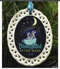 Disneyland After Dark 2018 Porcelain Ornament New Mickey And Minnie Mouse