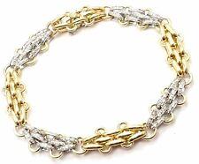 Rare! Authentic Tiffany & Co 18k Yellow & White Gold Diamond Link Bracelet