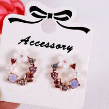100Pcs Jewelry display card earrings ear studs packing hang tag rectangle*hol_WK
