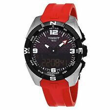 Tissot Men's T Touch Expert Red Rubber Strap Swiss Quartz Watch T0914204705700