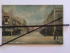 Antique vintage colour photo Murray St Perth WA advertising boards