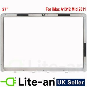 """For Apple 810-3557 iMac A1312 27"""" Front Glass Panel Mid 2011 to Mid 2012"""