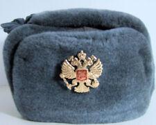 USSR Vintage Russian Army Ushanka, with Soviet Double HeadedEagle (58 Cm Medium)