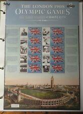 GB 2012 Olympics The London 1908 Olympic Games Smiler Sheet mnh
