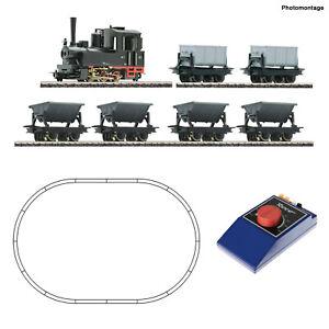 Roco H0e 31035 Schmalspur-Startset Feldbahndampflok mit Lorenzug - NEU + OVP