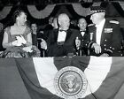 DWIGHT D. EISENHOWER WITH MAMIE & MAJOR GENERAL ABENDROTH - 8X10 PHOTO (EP-852)