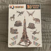 IQ BUILDER DIY Arts and Crafts KIT- 3D Puzzle Project Set - 9 puzzles 40 markers