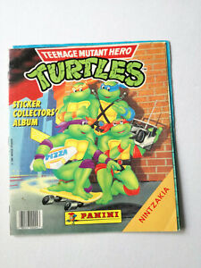 Vintage Greek TNMT Ninja Turtles Panini Sticker Album 1990