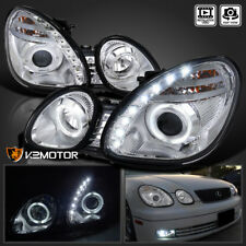 For 1998-2005 Lexus GS300/GS400 SMD LED+Halo Projector Headlights