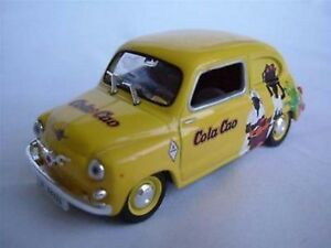 FIAT SEAT 600 VAN COLA CAO 1/43 SIZE MODEL YELLOW COMMERCIAL VERSION R0154X ~#~