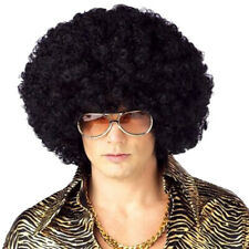 Fashion Unisex 70s Disco Circus Era Black Jumbo Afro Wig One Size With Wig Cap