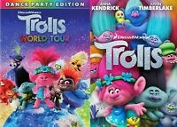 Trolls & Trolls World Tour DVD Sam Rockwell NEW **** (Separates)***