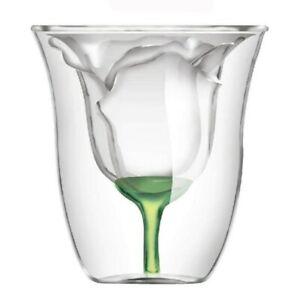 Bodum Design Rose Shape Double Wall Copo Gafas Vetro Bilayer Wine Glass