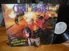 CYNDI LAUPER UNA NOCHE PARA RECORDAR G+/G+ LP ARGENTINA ONLY COVER South America