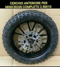 Cerchio Anteriore Per Minicross Completo 2.50x10 Nuovo MOZZO 9, 5 CM