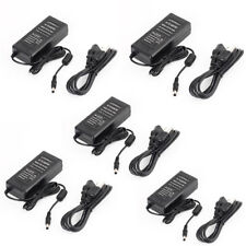 5pcs x AC to DC 12V 5A 60W Power Supply Adapter For 5050 3528 Strip 5.5*2.1mm