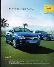 Publicité advertising 2004 Opel Tigra TwinTop Cabriolet