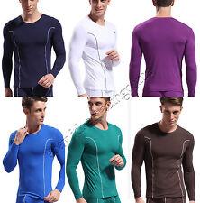 Men Thermal Underwear Bamboo Fiber Long Sleeve T-shirt Sexy Guys Tops Home Wear