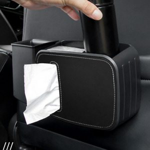 Car Rear Seat Trash Can Storage Tissue Box Bin Cup Holder ABS Plactic Waterproof