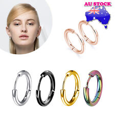 Wholesale 1Pair Surgical Steel Titanium Polished Hinged Sleeper Hoop Earrings
