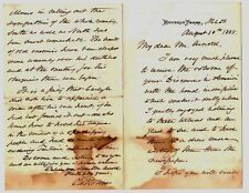 HANDWRITTEN SIGNED LETTER BY OLIVER WENDELL HOLMES ON THE DEATH OF ULYSSES GRANT