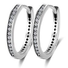 925 Sterling Silver Earrings Vintage Cubic Zirconia Hoop Earrings Gift For Women