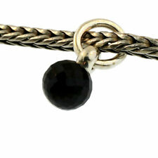 Authentic Trollbeads Sterling Silver 51735 Black Spinel Tassel