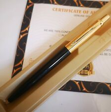 More details for 24k gold plated parker jotter ballpoint classic black writing pen in gift box
