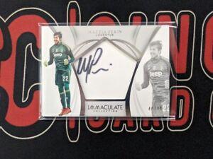 2018-19 Panini Immaculate Soccer MATTA PERIN /40 On-card Auto Juventus FC