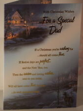 Special Dad Christmas card with winter scene 19.25cm x 13.25cm