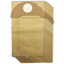 10 x Filtered Dust Bags Double Walled for KARCHER MV2 IPX4 WD2 Vacuum Cleaner