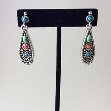 "BRIGHTON ""Loretto"" Multi Color Howlite  Post Drop Earrings  (1200)"
