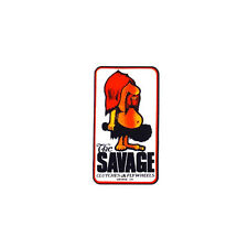 THE SAVAGE CLUTCHES AND FLY WHEELS DRAG RACE HOT RAT ROD DECAL VINTAGE LOOK
