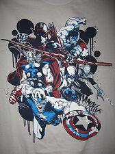 Marvel/DC: AVENGERS LEGACY, MONTAGE DRIP T-Shirt (M) - 40% OFF, SALE