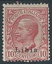 1912-15 LIBIA EFFIGIE 10 CENT MH * - ED208