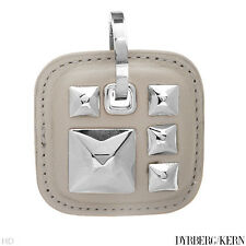 DYRBERG/KERN of DENMARK! Mandy Collection New Silver Finish Pendant With Leather