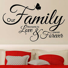 Wall Sticker HOME VINYL WALL ART DECAL  Love Wording Quotes Bedroom Decoration