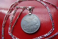 "Classic War Era 1941 Italian Eagle Pendant on a 30"" .925 Sterling Silver Chain"