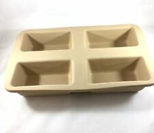 The Pampered Chef Mini Loaf Pan #1418 Retired Bread Meatloaf Stoneware New NNB