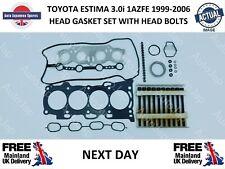 TOYOTA ESTIMA 3.0i 1AZFE 1999-2006 HEAD GASKET SET & HEAD BOLTS  NEXT DAY
