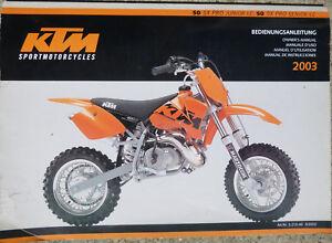 Owners Workshop / Service Manual - KTM SX50 2003 MX Motocross
