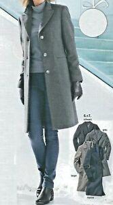 Mantel Wollmantel Damenmantel Übergangsmantel Wolle taupe 38 50