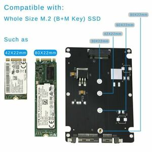 "2,5"" SATA III Gehäuse M.2 NGFF SSD Laufwerksadapter 2242 2260 2280 M.2 Laufwerke"