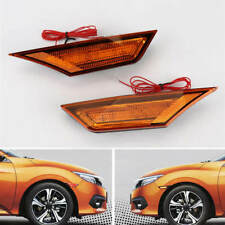 Pair JDM Version Yellow Lens Full LED Side Marker Light For Civic 2016-18 Honda