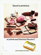 Publicité Advertising 087  1974  Solutricine vitamine C irritations de la Gorge