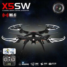 Syma RC Quadcopter Drone X5SW 6-Axis with WIFI FPV Camera UFO Black