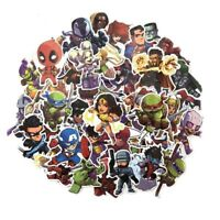 50 Pcs/Lot Stickers Avengers Super Hero For Car Laptop Skatboard Decal Vinyl Art